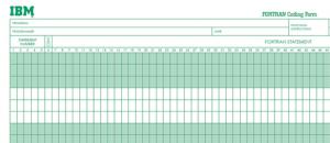Fortran Coding Form
